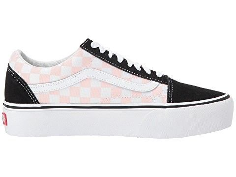 b032dcdc8db2 2018 Vans Old Skool Platform Womens (Checkerboard) Black Pink Dogwood Shoes  UK sale