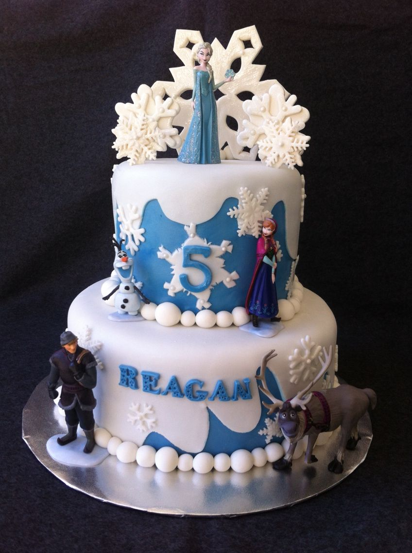 Frozen snowflakes birthday cake by yumm yumm by michelle and