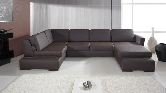 Plaza I Faux Leather Corner Sofa Bed Hoekbank Bed Decoratie Retro Bank