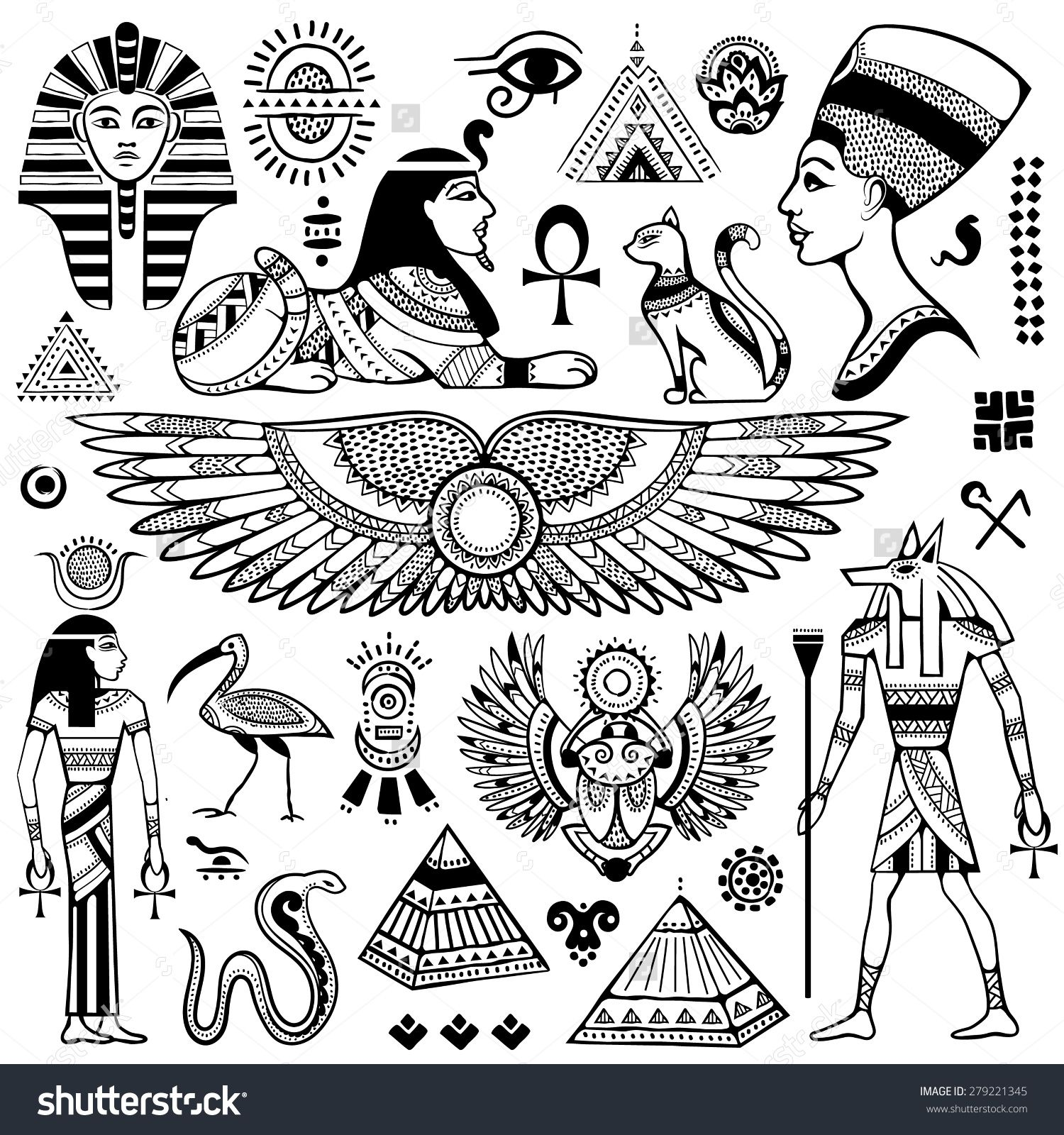Set of vector isolated egypt symbols and objects tatts pinterest set of vector isolated egypt symbols and objects tatts pinterest symbols tattoo and egyptian biocorpaavc Images