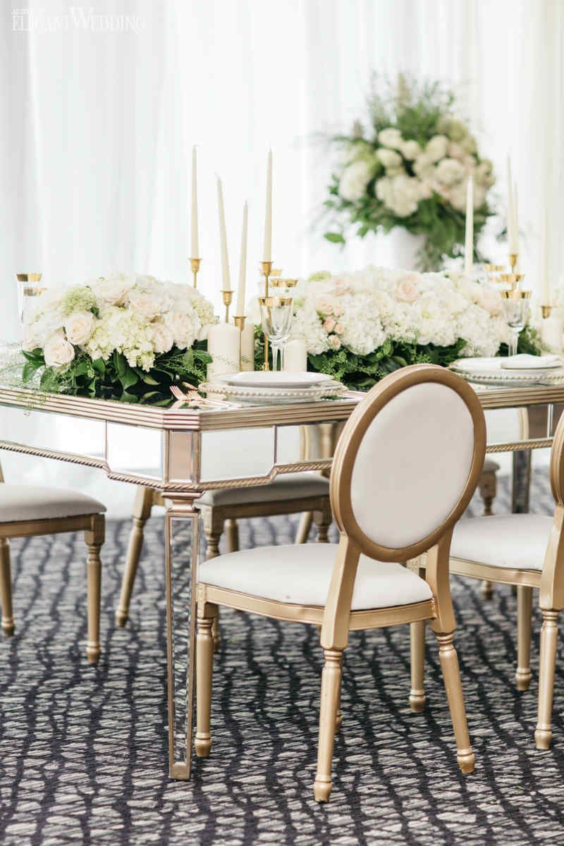 Stylish Greek Wedding Theme with Gold Decor | Wedding Ideas