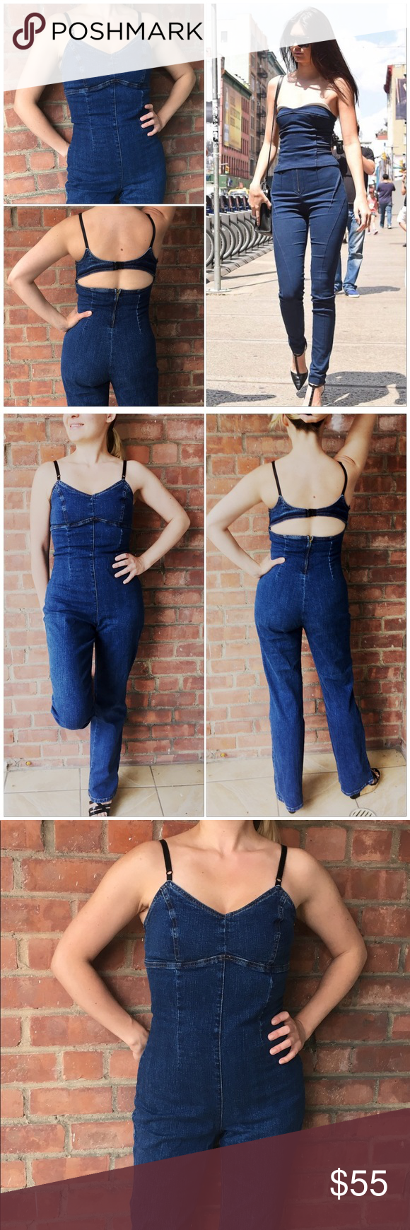 4c2646d0a463 💣Very Sexy Jeans Jumpsuit with Cutout Back