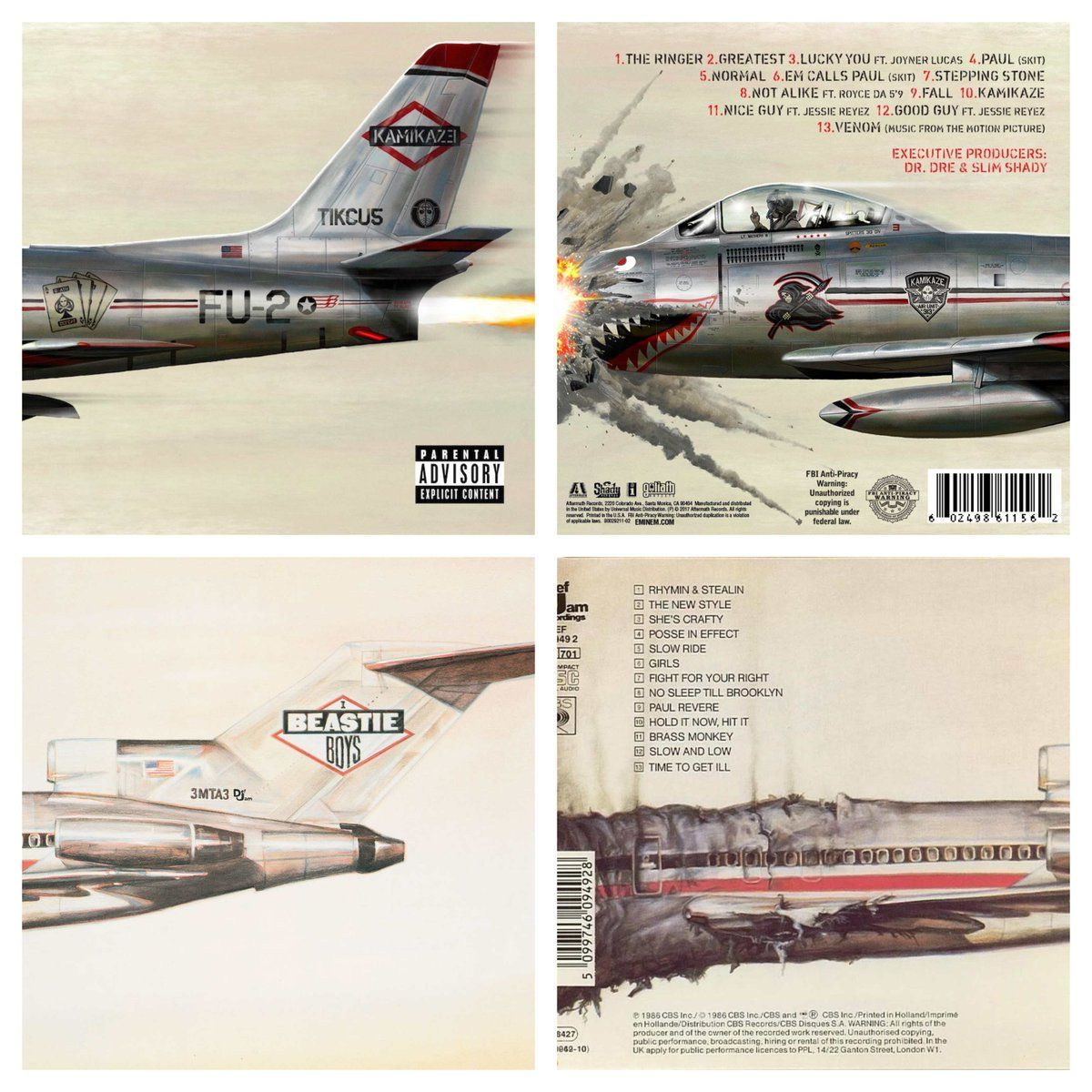 "Eminem's kamikaze album pays homage to beastie boys ""license"
