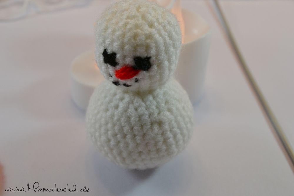 DIY - Häkel dir einen Schneemann - Mamahoch2