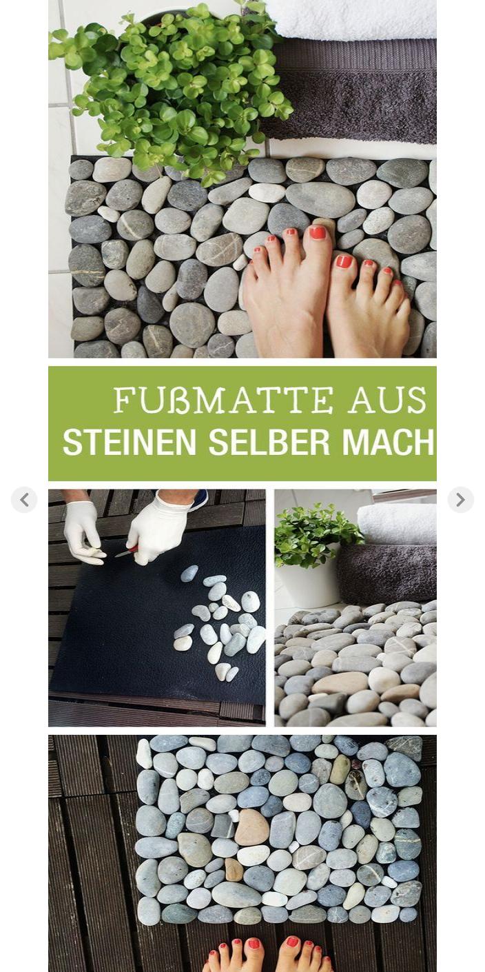 diy-anleitung: fußmatte aus steinen selbst machen, deine