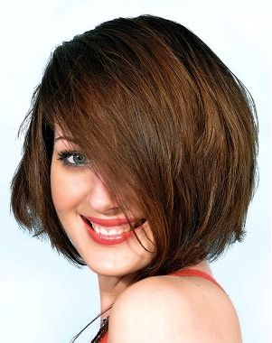 Hairstyles For Chubby Faces medium layered burgundy hairstyle for chubby faces 20 Cool Hairstyles For Fat Women