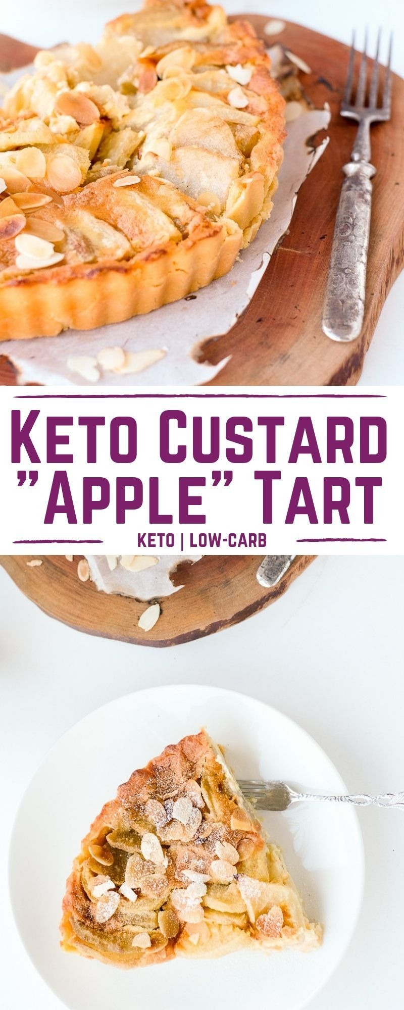 Keto Custard Apple Tart | My Sweet Keto
