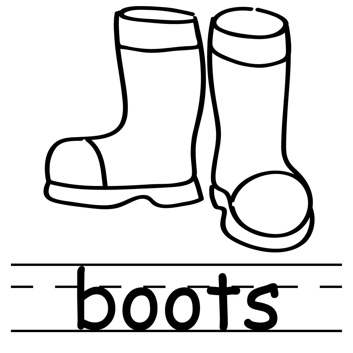 For Rain Boots Clipart Coloring Pages Clip Art Winter Boots