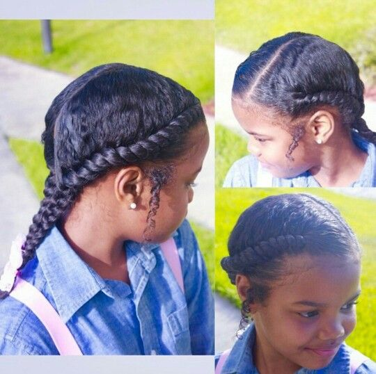 Flat Twists Ponytail Style For Girls