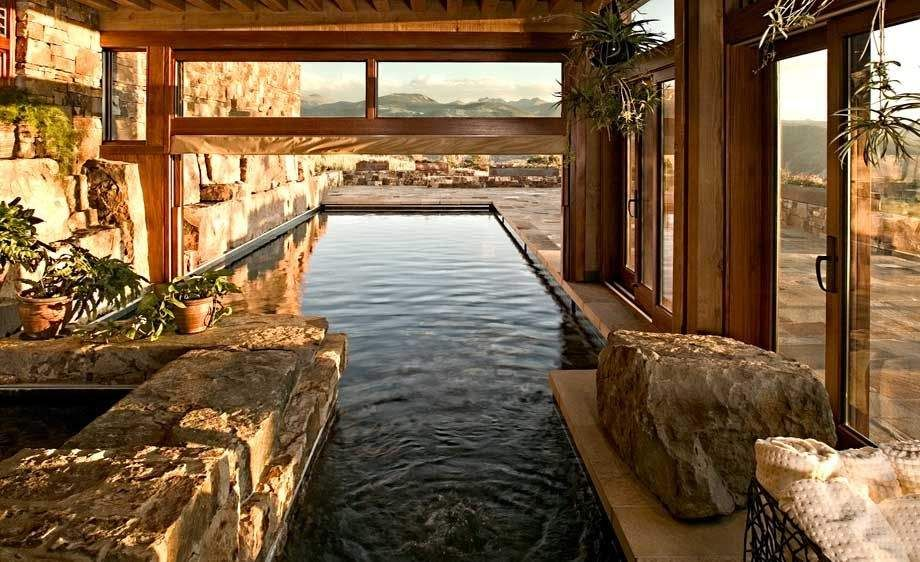 indoor outdoor pool house. Home Indoor Outdoor Pool | Indoor/Outdoor Pool, Avon, Colorado Residential Exteriors House