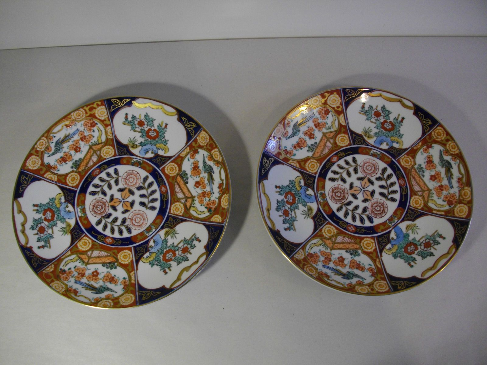 24A Vintage Pair Gold Imari Plates Hand Painted 11\u0027\u0027 Toyo Japan | eBay & 24A Vintage Pair Gold Imari Plates Hand Painted 11\u0027\u0027 Toyo Japan ...