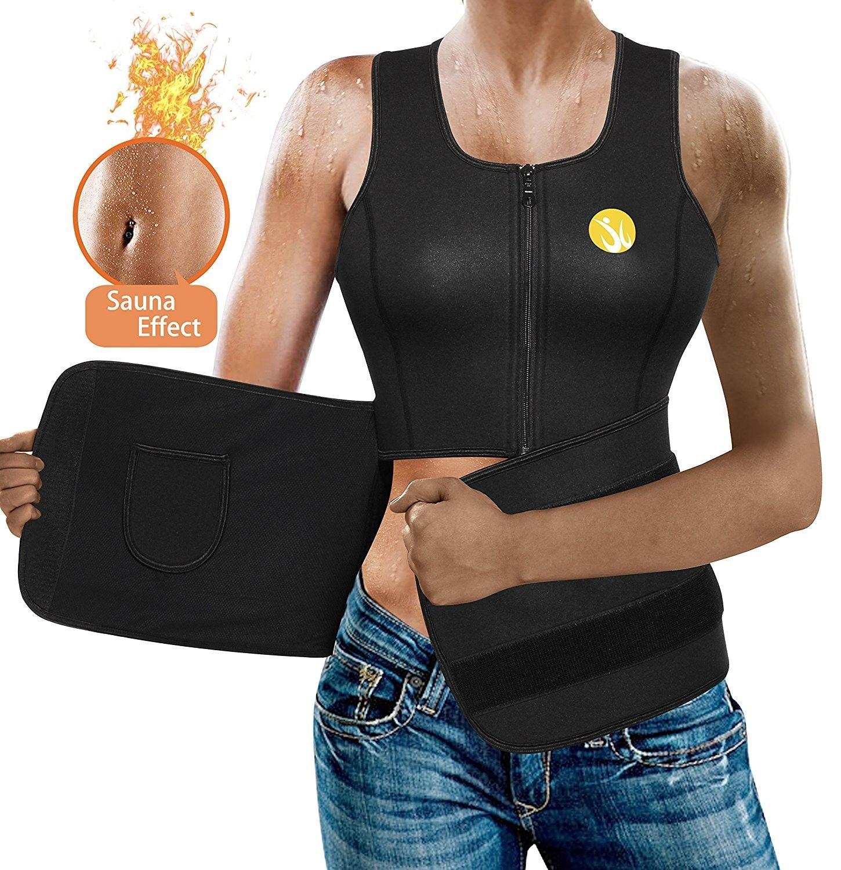 283bbc0a7a4ea Women Sauna Waist Trainer Vest Weight Loss Neoprene Tank Top Body ...