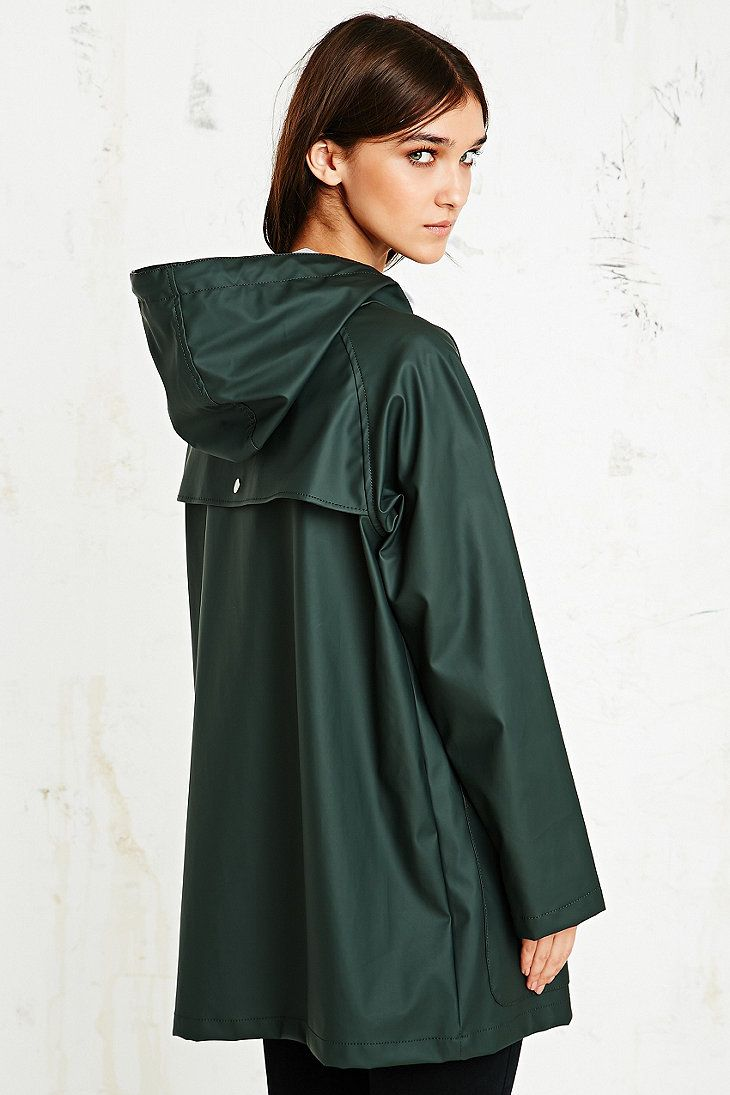 BDG Fisherman Rain Jacket in Khaki | 18ss | Pinterest | Rain ...