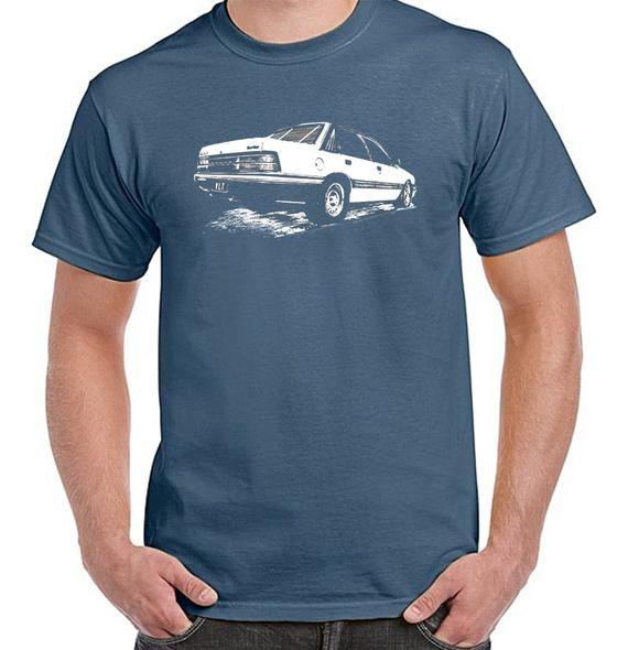 Holden VLT, Classic car, Turbo, street machines, Aussie Muscle, Mens Indigo Blue, 100% cotton light weight summer Tshirt