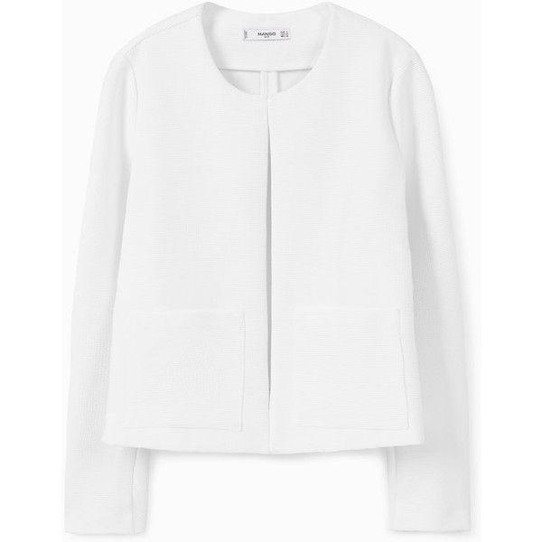 MANGO Pocket Textured Jacket (3.925 RUB) via Polyvore featuring outerwear, jackets, textured jacket, mango jackets, pocket jacket и long sleeve jacket