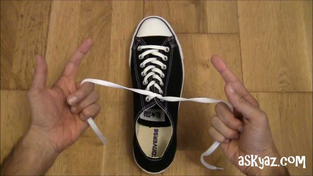 how to tie a shoe lace in 1 second  ha   i wonder how many kids i will teach to tie their shoes
