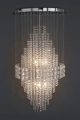 Buy illusion hand polished 6 light clear glass chandelier from the buy illusion hand polished 6 light clear glass chandelier from the next uk online shop mozeypictures Choice Image