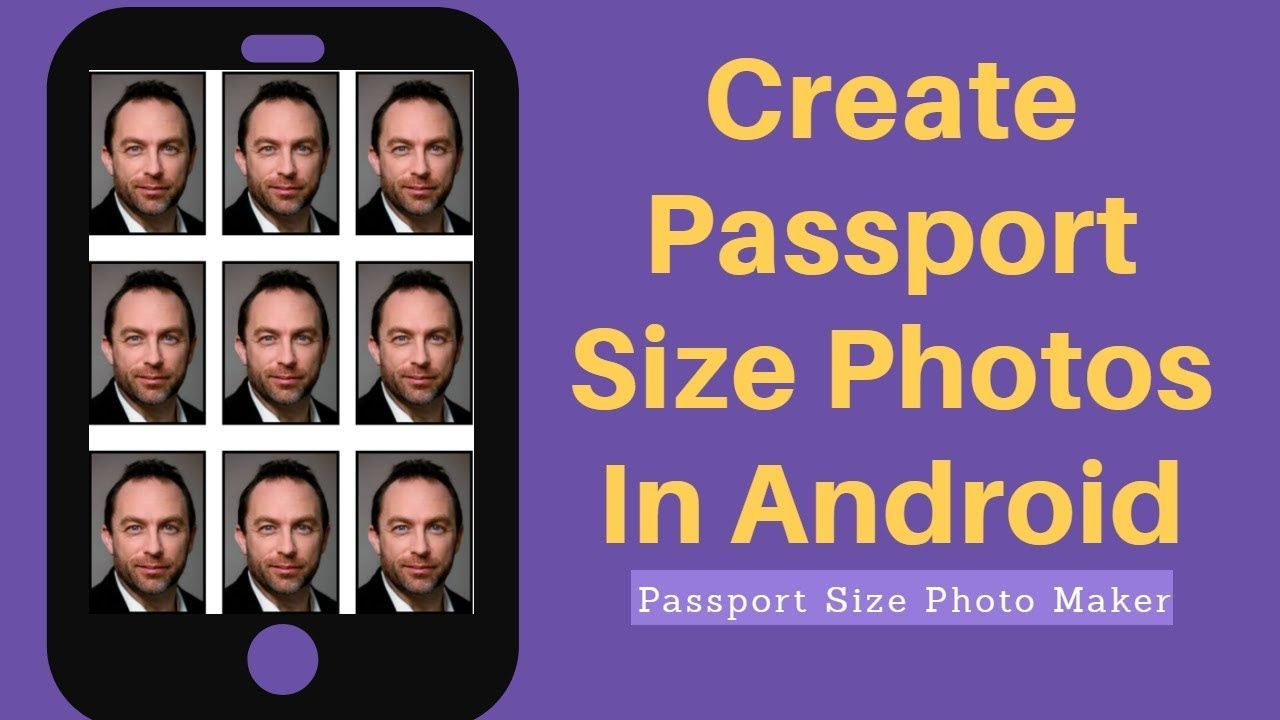 How To Create Passport Size Photos in Android Phone