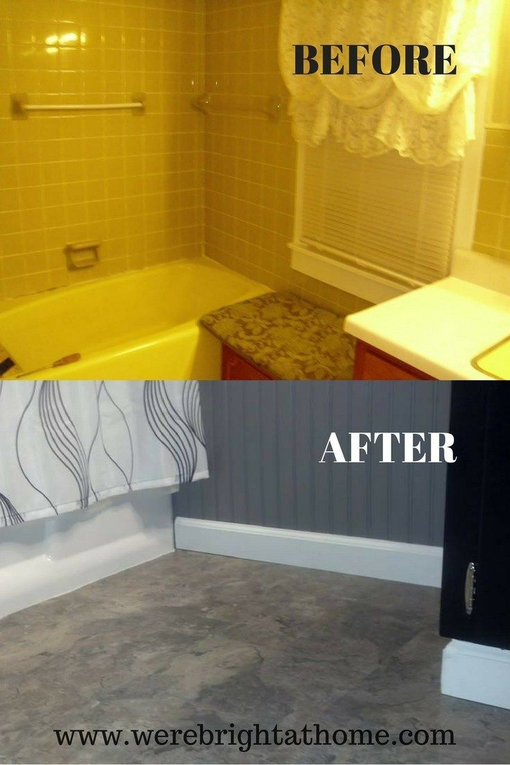 DIY Bathroom Remodel On A Budget Before And After | We\'re Bright At ...