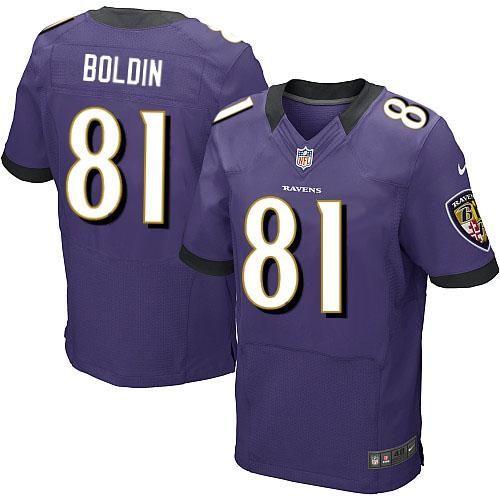 Nike NFL Baltimore Ravens 81 Anquan Boldin Elite Purple Team Color Jersey  Sale