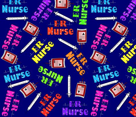 ER Nurse Navy fabric by hot4tees_bg@yahoo_com on Spoonflower