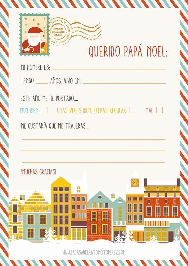 Carta Papá Noel para imprimir   NAVIDAD   Pinterest   Navidad, Santa ...