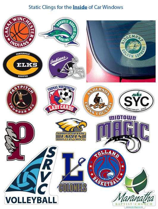 Static Cling Window Decals Window Stickers Schoolpride Window Stickers Static Cling Window Decals