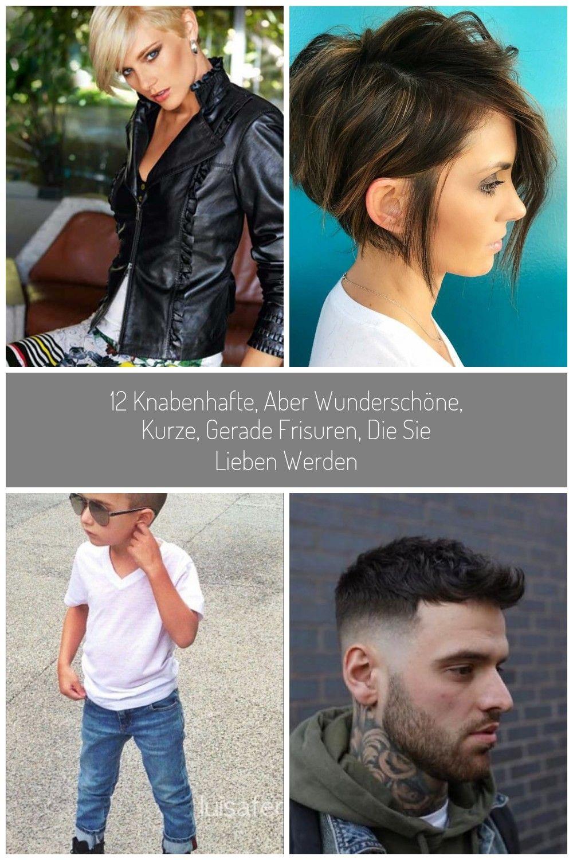 12 Knabenhafte, aber wunderschöne, kurze, gerade Frisuren, die Sie