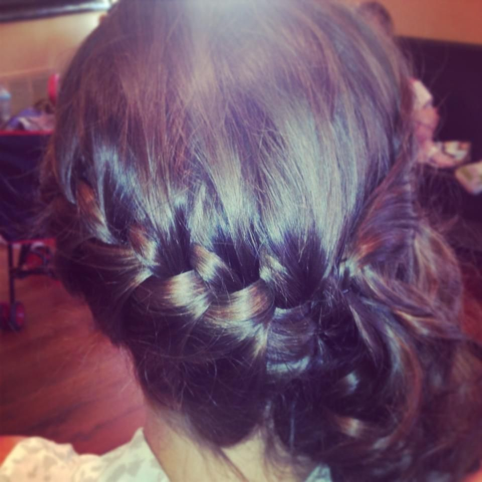 prom hair french braid to the side into a bun | Hair, Prom ...