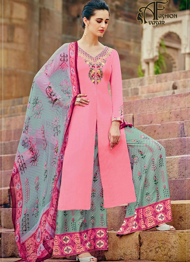 designer palazzo suits online – buy online salwar suits Achkan ...