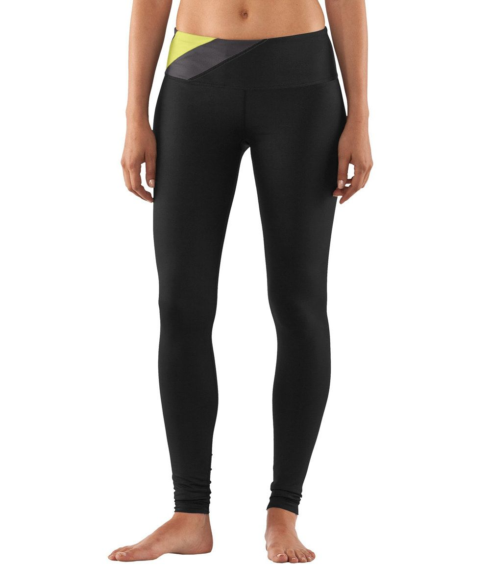 5d929ee08ee6c Black & Yellow Perfect Shape Leggings Under Armor | Health & fitness ...