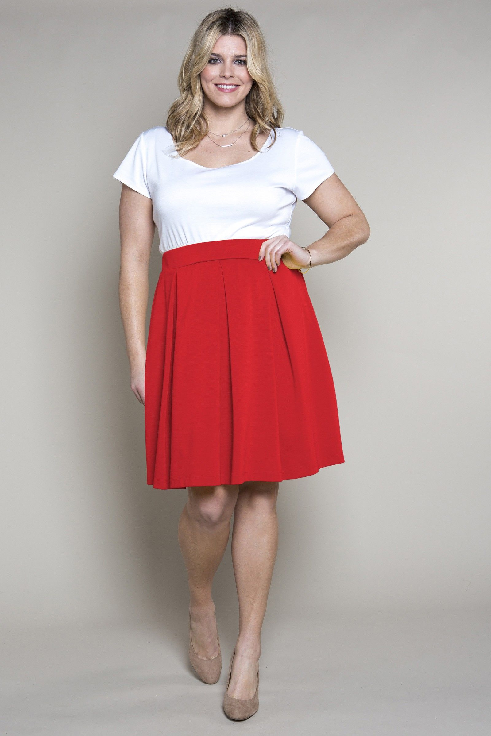 Red dress tops made