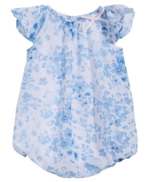 cc323411b845 First Impressions Baby Girls Floral-Print Bubble Romper