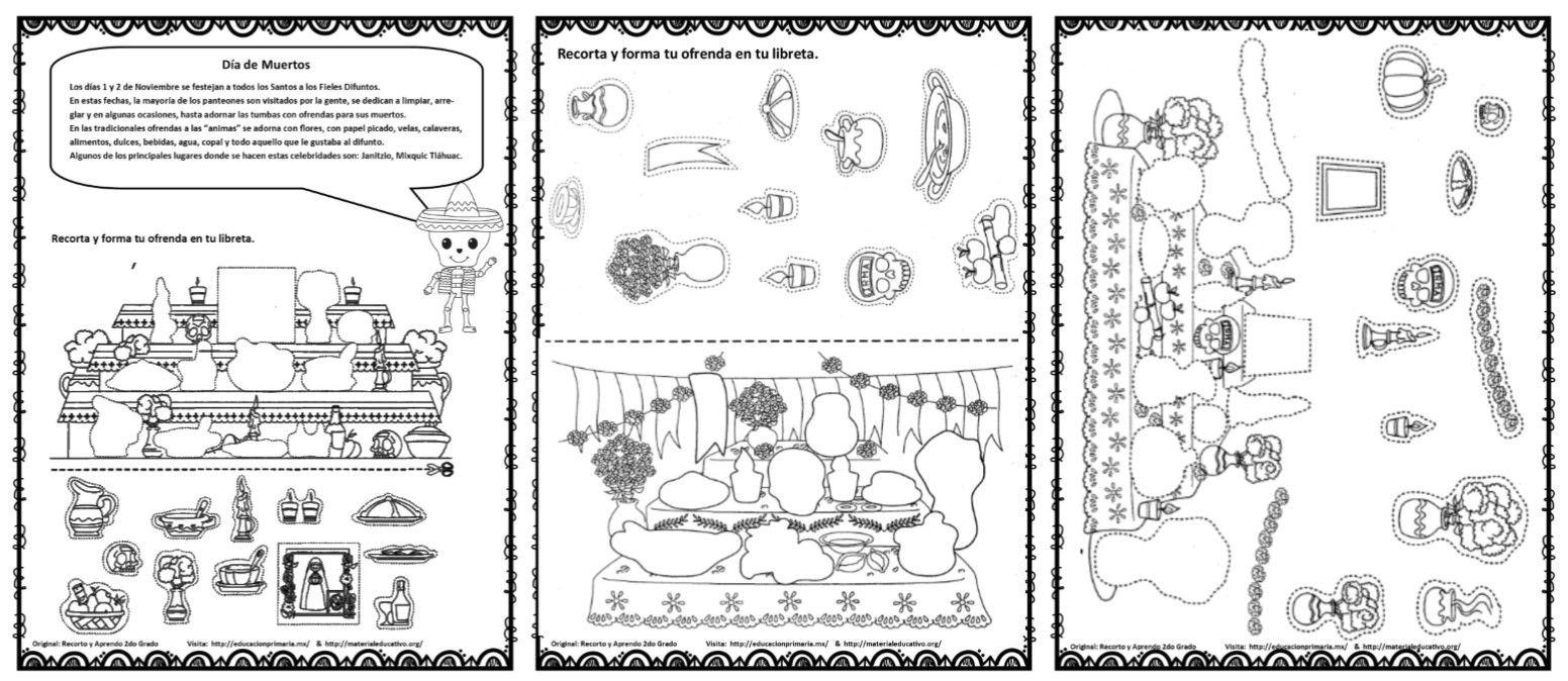 Ofrendasdiademuertosarmar Jpg 1552 674 Ofrendas Dia De Muertos Dia De Muertos Altar De Muertos Dibujo