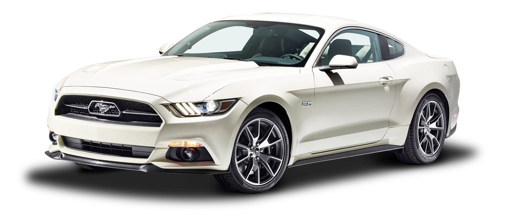 Download White Ford Mustang Gt Fastback Car Png Image For Free
