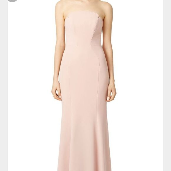 Blush Jill Stuart evening gown worn once Perfect condition! Fits a size 2. I am 5'4 and 127 pounds wearing a 2 inch Heel---- make offers !!!! Jill Stuart Dresses Prom