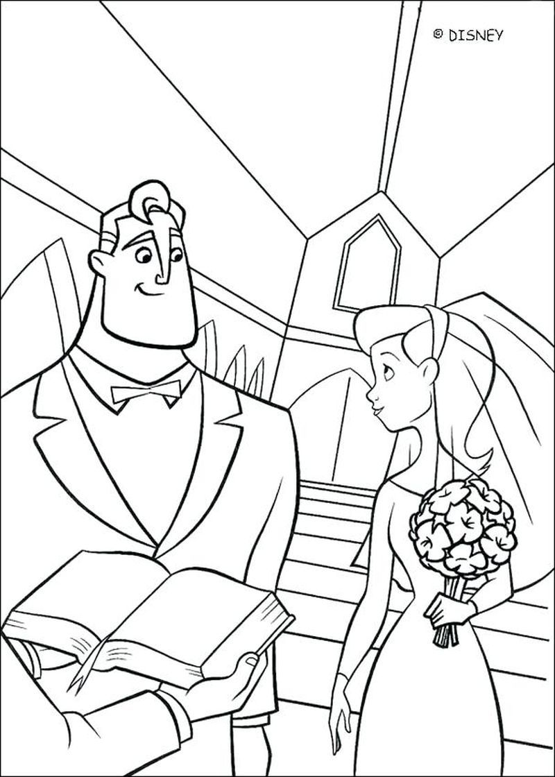 Printable Incredibles Coloring Pages Coloring pages