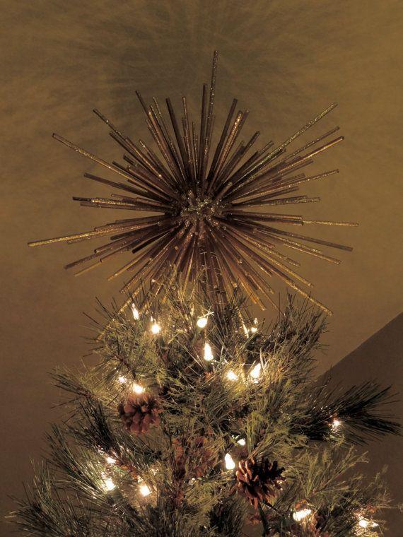 Christmas Tree Topper Star Starburst Custom Handmade Retro Modern
