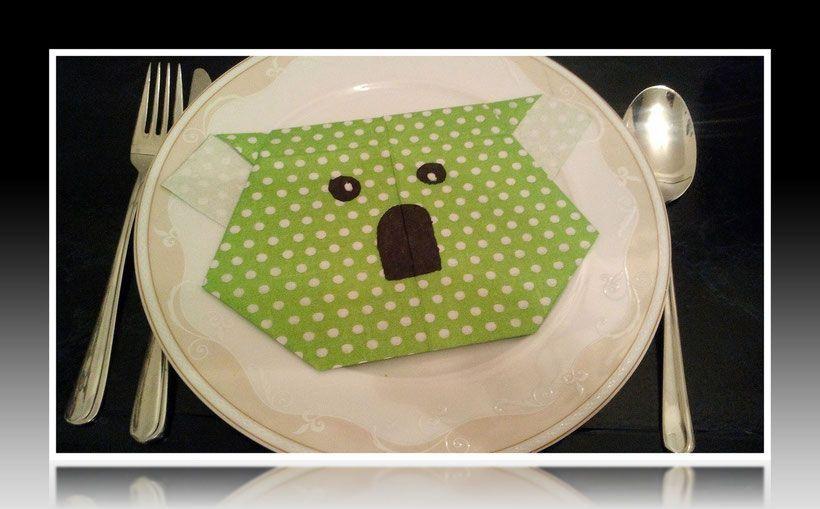 #animal #Anleitung #bas #einfach #falten #Koala #Koalakopf #Servietten #Tier