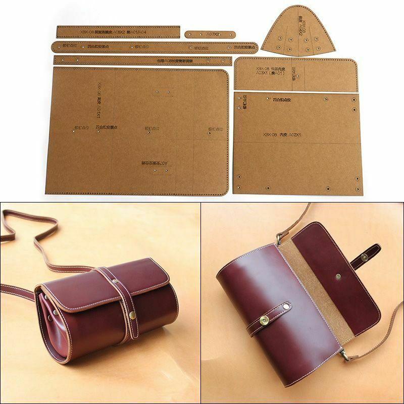 Casual Shoulder Messenger Bag Template Pattern Tools Cylinder