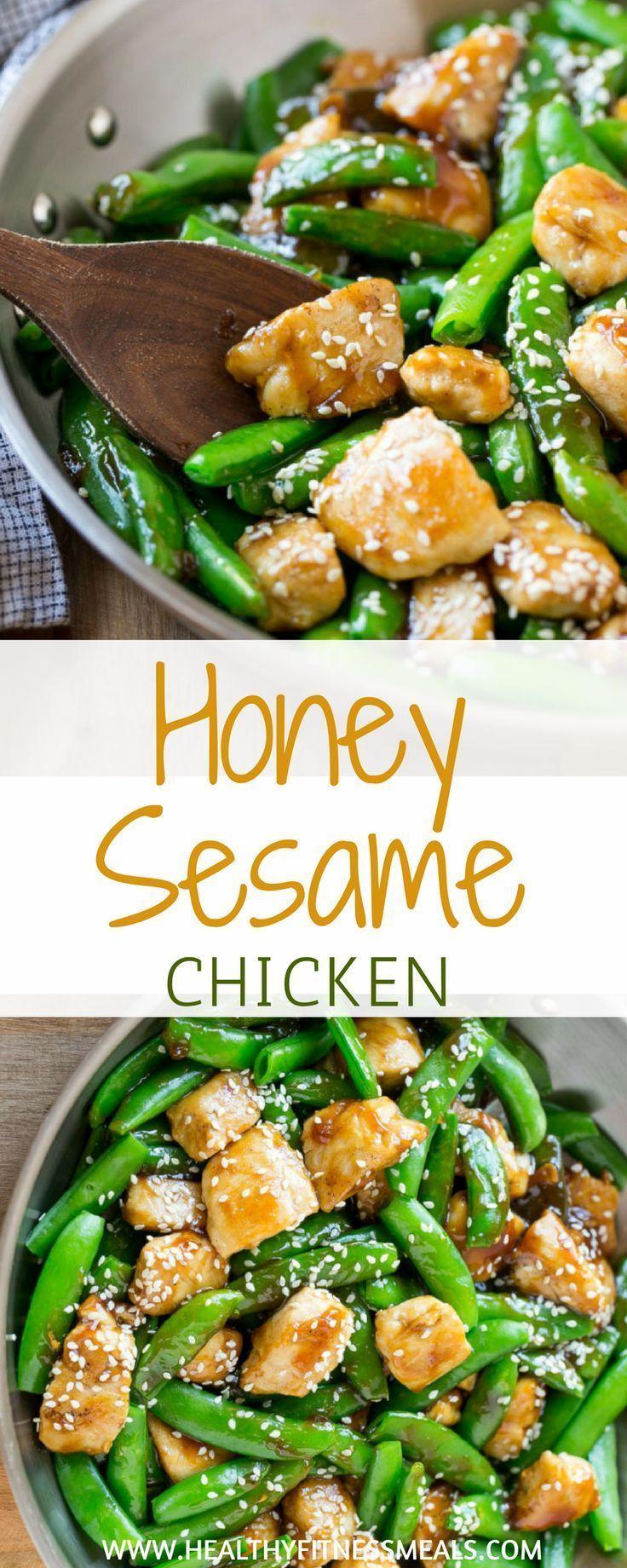 Honey Sesame Chicken #healthyrecipes