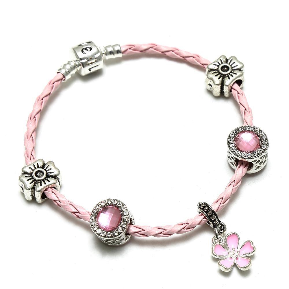 Spinner new year heart of the sea diy charm bracelet romantic flower