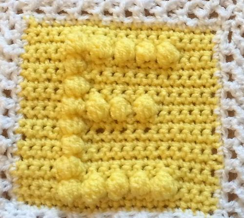 Whole set of alphabet bobble stitch squares including numbers ...