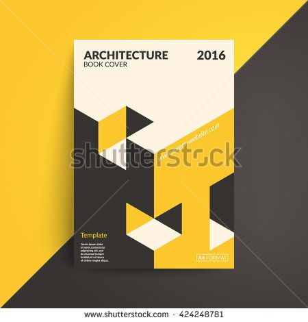 isometric cover design architecture book a4 format template for