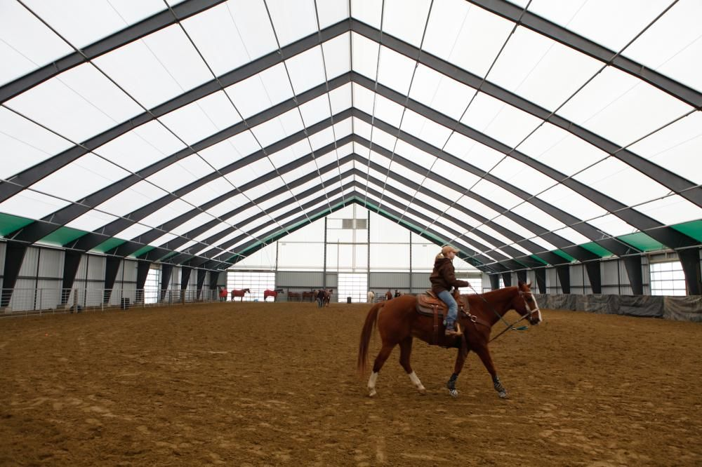 Fabric Covered Riding Arena - I LOVE the abundance of