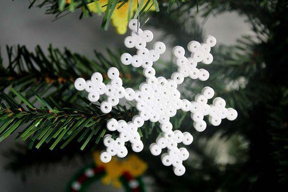 Hama Weihnachten #christbaumschmuckbastelnkinder