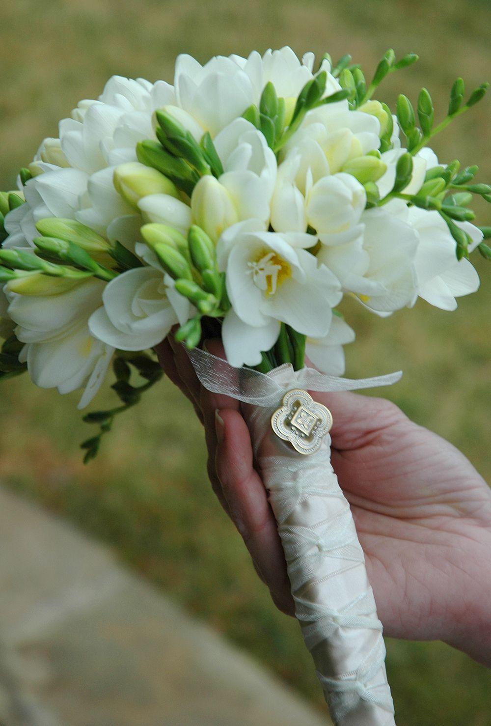 White Freesia Bouquet Wed Pinterest Wedding Bouquets Wedding