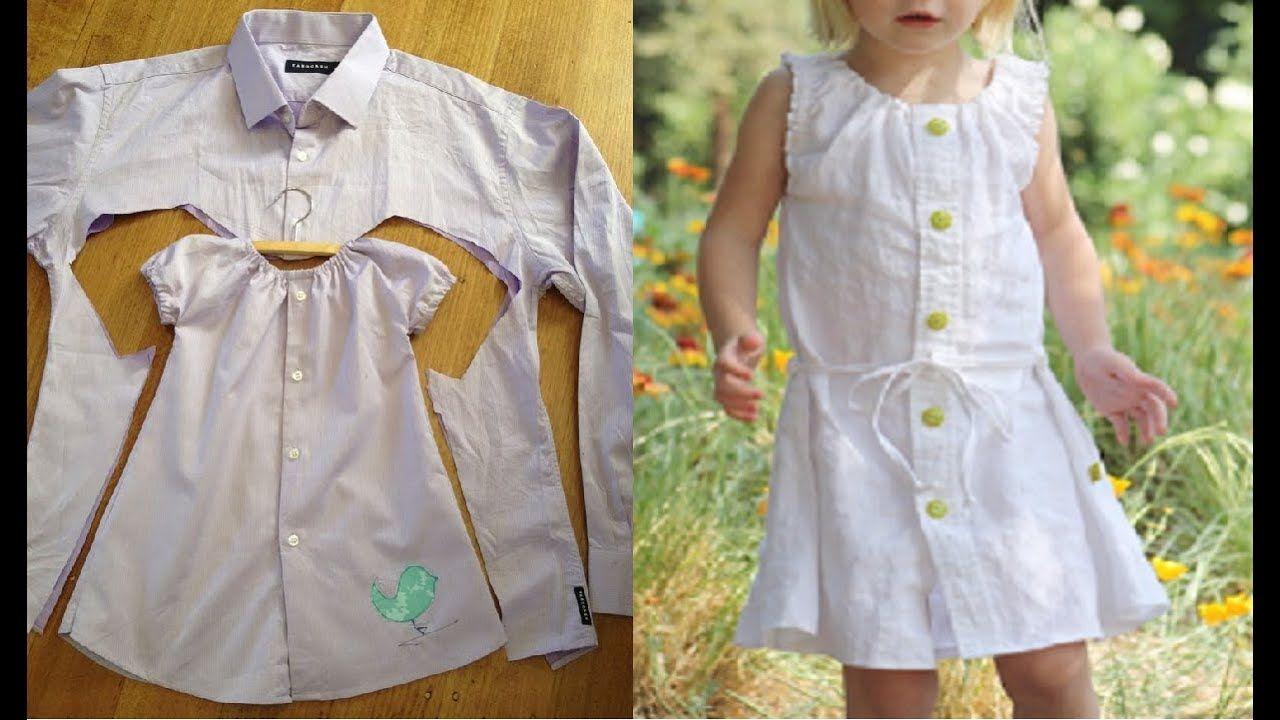لا تشتري ملابس أطفال جديدة اصنعيها بنفسك مع إعادة تدوير الملابس القديمة Sewing Dresses Fashion Kids Wear