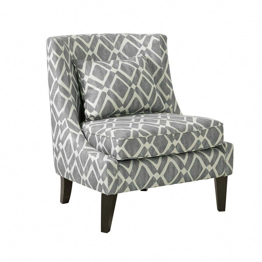 Carmina Swoop Grey Accent Chair