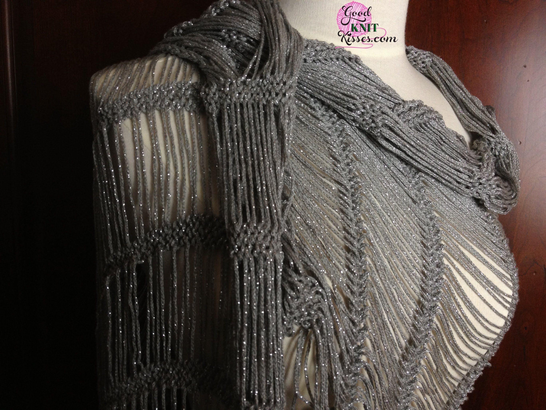 Dew Drop Shawl loom along pattern on the AllnOne | Loom Knits ...